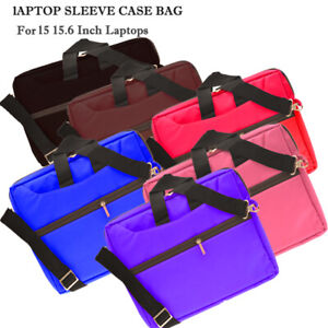15.6 inch Laptop PC iPad Table Shoulder Bag Carrying Soft Notebook Case Cover UK