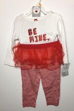 Carters Baby Girl Be Mine Valentine Heart Bodysuit Tutu Legging Set 12 Months