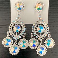 Crystal/AB Fashion Designer Earrings made with Genuine Swarovski Elements UK