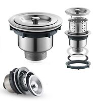 Kitchen Bar Stainless Steel Sink Strainer Drain Head Stopper Filter Basket New