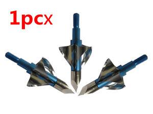 1PC 100Grain Rotation Steel Hunting Arrowhead Point Crossbow Archery 6 Blades