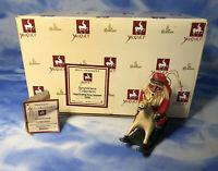HTF Roman 1993 Bill Jauquet Santa Rocking Horse Ornament Figurine w/ BOX #56684