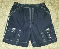 BABY BOYS Sz 0 blue TARGET surf shorts CUTE! COOL! ELASTIC WAIST! ANCHOR!