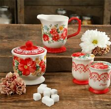 The Pioneer Woman Vintage Floral 5-Piece Sugar and Creamer, Salt & Pepper Set