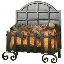Electric fire Basket Black with Flicker Logs Effect - Electric Fire Heater