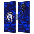 OFFICIAL CHELSEA FOOTBALL CLUB CREST LEATHER BOOK FLIP CASE FOR NOKIA PHONES