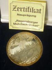 Regensburger Mehrfachdukat 999,9 reines Silber,20 gramm im Etui+Zertifikat SUPER