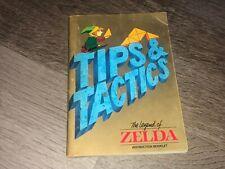 Legend of Zelda Tips & Tactics Instruction Manual Booklet Nintendo Nes Authentic