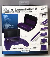 NEW DreamGear Nintendo 3DS 20 in 1 Essentials Starter Kit Purple NIB Case Stylus