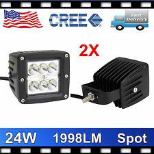 3inch 24w CREE Led Work Light Spot Pods Offroad 4X4 Driving Truck SUV ATV PRETTY