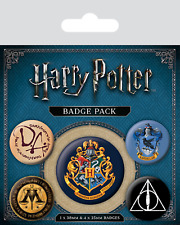 Oficial Harry Potter Hogwarts Insignia Pack de 5 ORIGINAL PELÍCULA HP Regalo