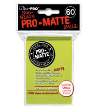 ultra pro deck protector sleeves 60ct matte bright yellow sized for small cards