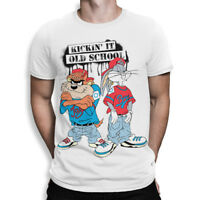 Taz & Bugs Bunny  Kickin' It Old School T-Shirt, Looney Tunes Tee, All Sizes