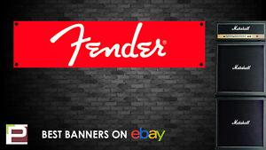 Fender Guitar Banner, for Rehearsal Room, Studio, Garage, Bedroom,