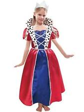 British Royal Kids Queen Fancy Dress Book Week Fairytale Girls Childrens Costume