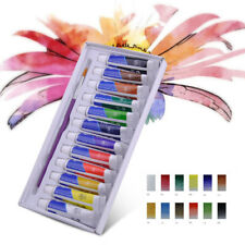 New 12 Colors 5ml Draw Painting Tube Watercolor with Paint Brush Set Artist Art
