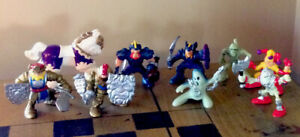 9 Fisher Price Great Adventures 90s Vtg Castle Figures Knights Horse Ghost Mummy