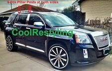 For 2010~2017 GMC TERRAIN Stainless Steel Silver Shining Color 6 pcs Pillar Post