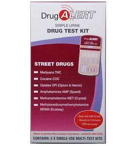DRUG ALERT STREET DRUGS TEST KIT - 5 PACK