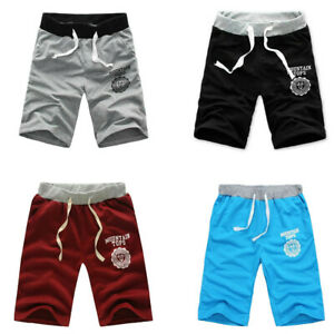 Seaintheson Mens Cargo Shorts,Solid Color Casual Gym Athletic Shorts Drawstring Breathable Jogger Beach Pants