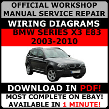 # OFFICIAL WORKSHOP Repair MANUAL for BMW SERIES X3 E83 2003-2010 WIRING #