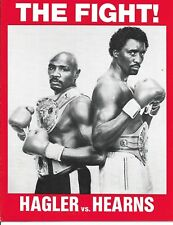 Marvelous Marvin Hagler Thomas Hearns   Program   April 15 1985