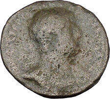 HADRIAN Bisexual Emperor BIG Ancient Roman Coin PAX Peace Goddess  i47883