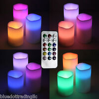 3pc set LED Real wax battery operated flameless candles color changing & remote