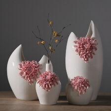 Ceramic Chrysanthemum Vase Modern Handmade Ornament Flower Pot Home Office Decor