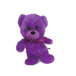 First And Main Rainbow Bear Plush Teddy Bear Purple 8 inch #1462