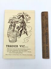 Vintage Trader Vic's Menu Original Location Oakland Pre Mai Tai Tiki Zombie