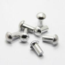 100Pcs M2*(3-16mm L) Semi-round head Aluminum solid rivets percussion rivet