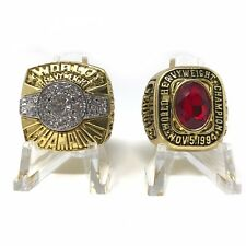 BOXING GREATS Hall Of Fame Championship Ring Set Mike Tyson George Foreman