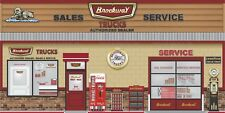 G-SCALE RAILWAY GAS STATION DIORAMA TRUCK TRACTOR DEALER SCENES GATOR FOAM LOT