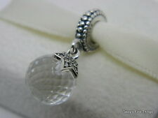 NEW! AUTHENTIC PANDORA CHARM MOON AND STAR DANGLE #791392CZ  P