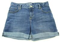 Cat & Jack Girl's Blue Jean Shorts Size XL (14/16) Adjustable Waist Stretch    S