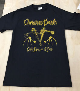 Christian Death Shirt only theatre of pain death rock Bauhaus cure 45 grave kbd