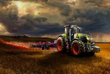 "Claas Axion 900 tractor Large 30"" X 20"" Canvas Print"
