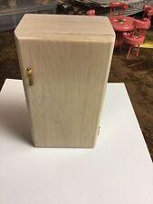 Dollhouse miniature Wooden Refrigerator Almond