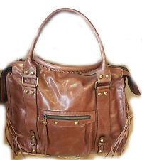 Borsa spalla vera pelle donna colore marrone cuoio tracolla bag leathear borse