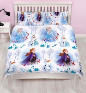 Official Disney Frozen 2 Element Reversible Double Duvet Bedding Set Elsa Anna