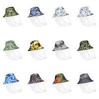 Camo Bucket Hat for Men Women Adult Full Face SUN UV Protection Splash Proof Cap