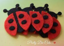 Felt Ladybirds (4) Die Cut Lady Bug Craft Embellishments
