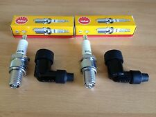 BSA B.S.A A10 RGS A10 RR A10 SR A65 LC/R/T NGK SPARK PLUGS AND CAPS FREE POST!