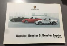 GENUINE PORSCHE BOXSTER S SPYDER 986 OWNERS MANUAL HANDBOOK 2005-2012 3.0 3.4