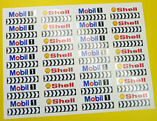 Ranura de coche Scalextric 1/32nd barrera Stickers Calcomanías Shell Mobil cheurones X56!