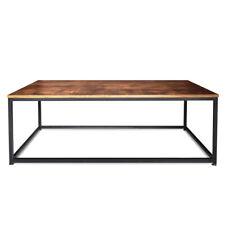 Tavolino da salotto in stile industrial tavolino da caffè in acciaio e legno