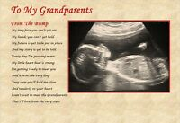 GRANDPARENTS TO BE GIFT - Laminated Gift (YOUR SCAN PHOTO PRINTED)