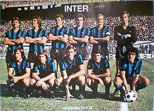ORIGINAL POSTER VINTAGE70 INTER 1974-75 CALCIO SANDRO MAZZOLA GIACINTO FACCHETTI