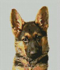 "German Shepherd Counted Cross Stitch Kit 7"" x 8"" D2139"